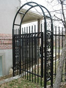 Gate with Arch