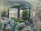 Arched Pergola with seat 1